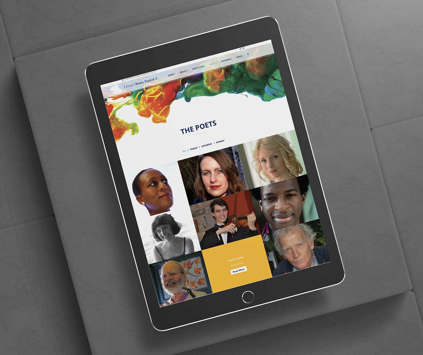 Kendal Poetry festival Tablet