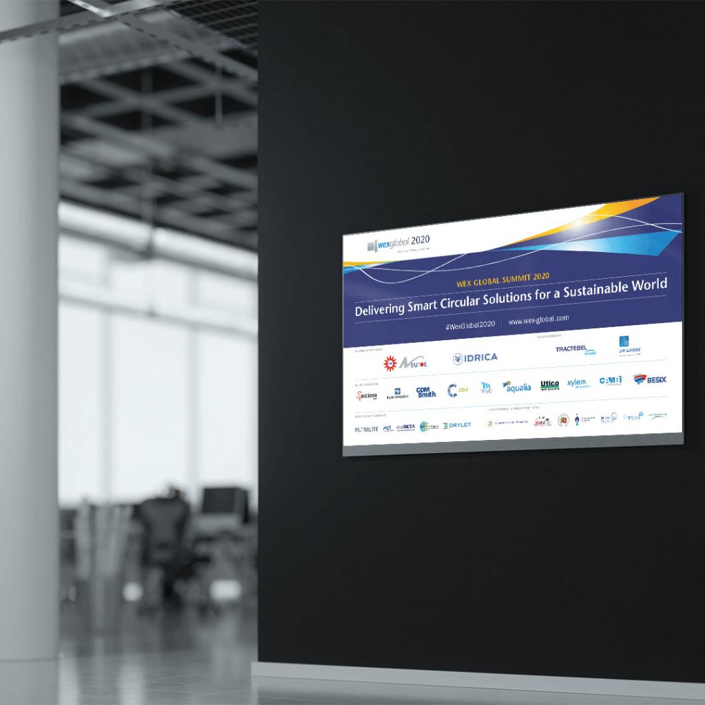 Conference sponsor signage for WEX 2020