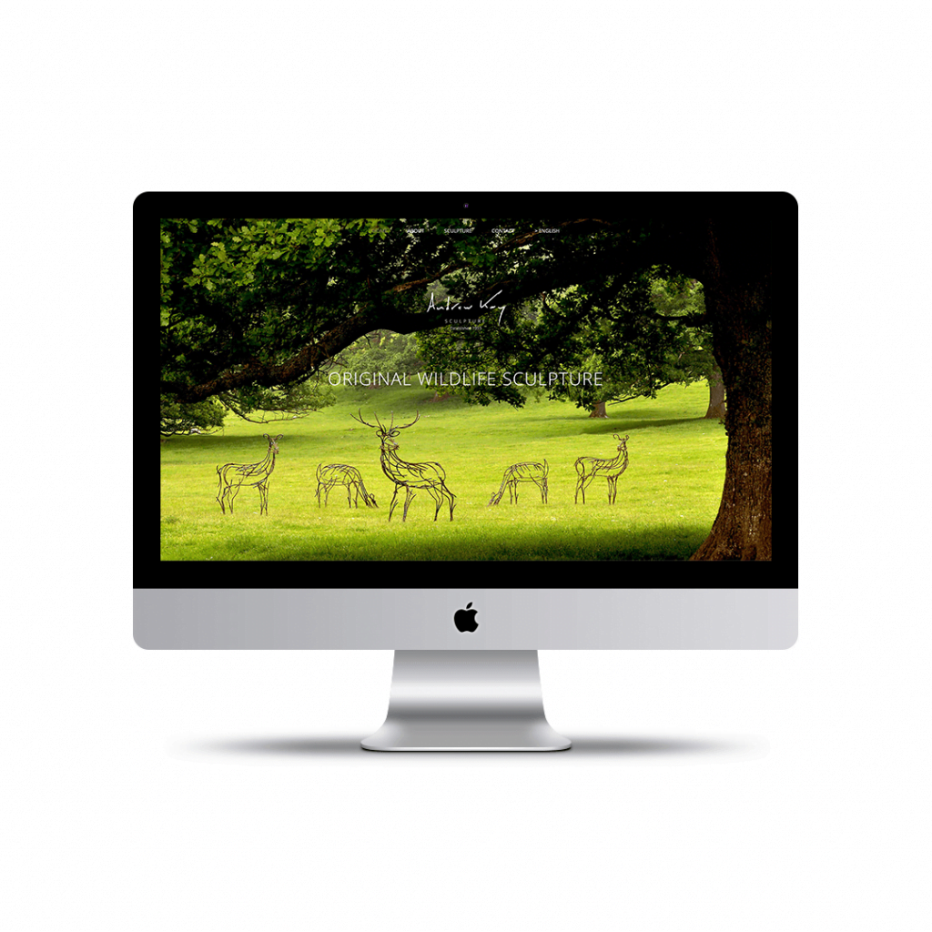 Home page website design for Andrew Kay Sculpture
