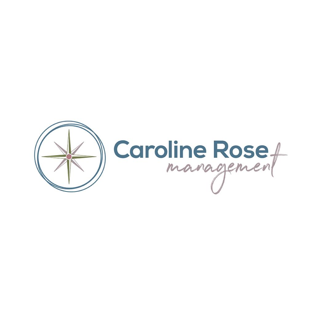 Brand Identity for Caroline Rose Management - a compass rose