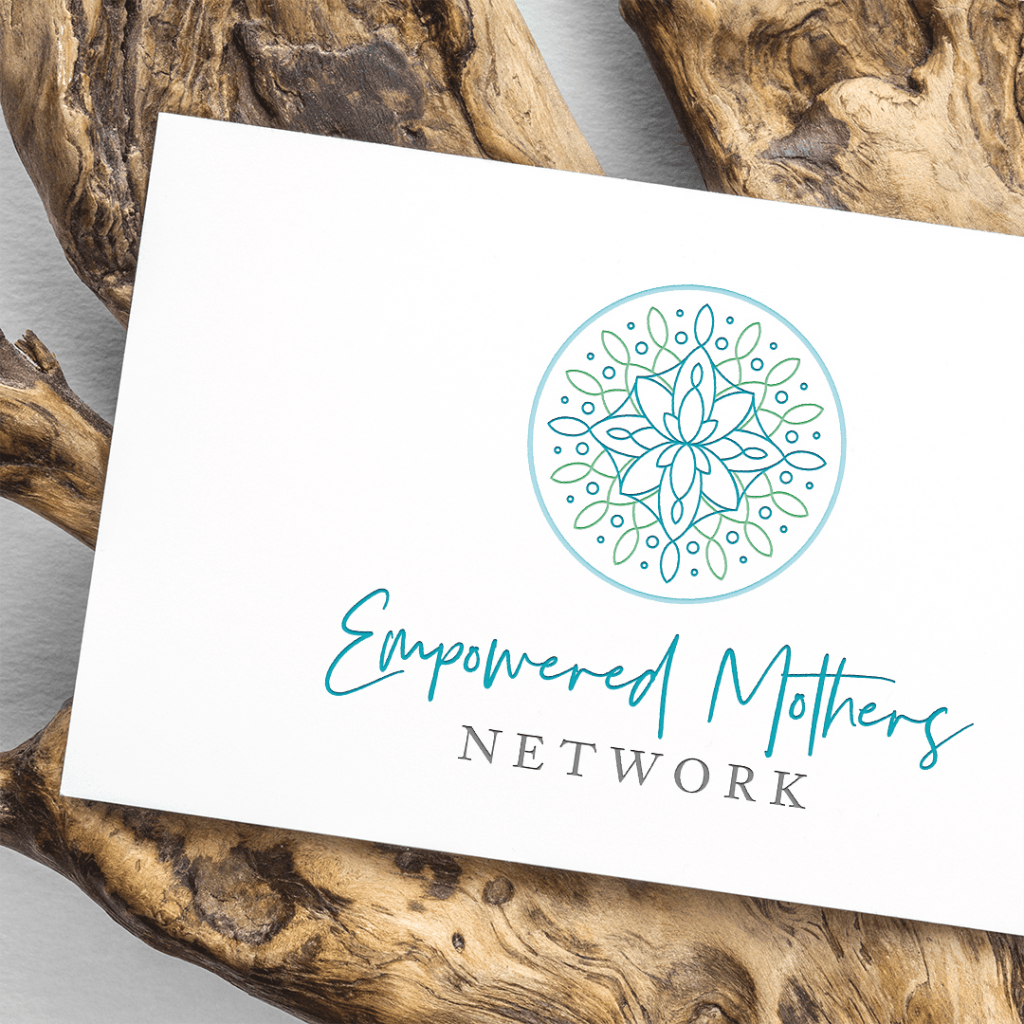 Brand identity for Empowered Mothers Network on their business card