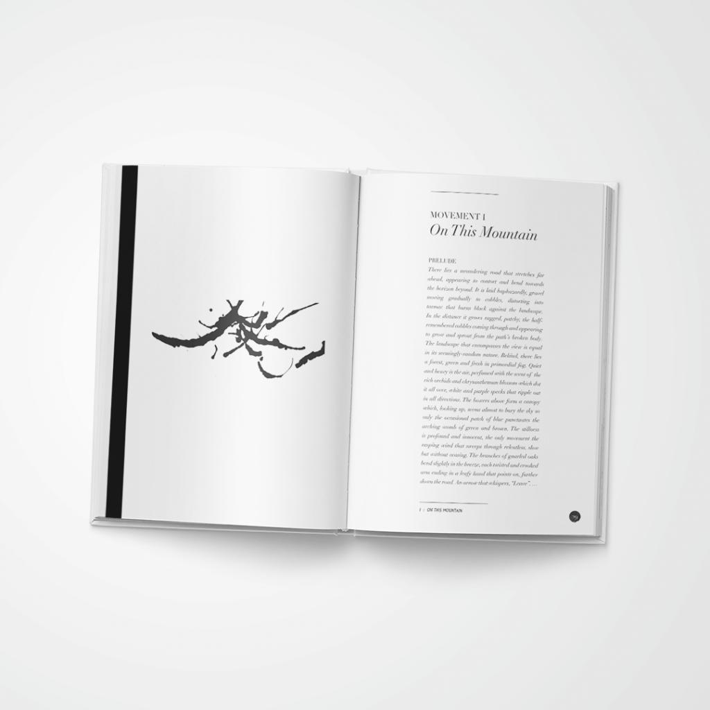 Mountains : oblique angles book spread