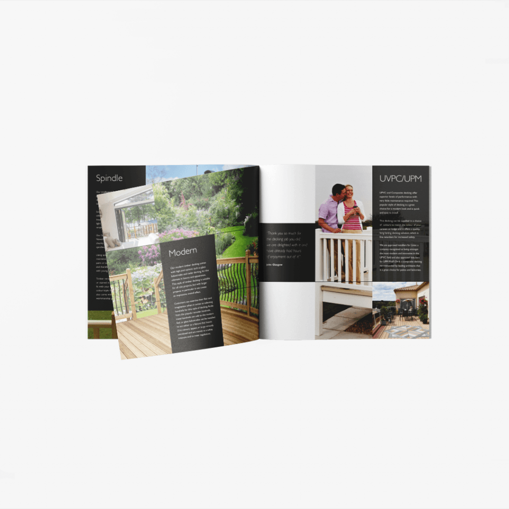 Spread from Lakes Decking product brochure