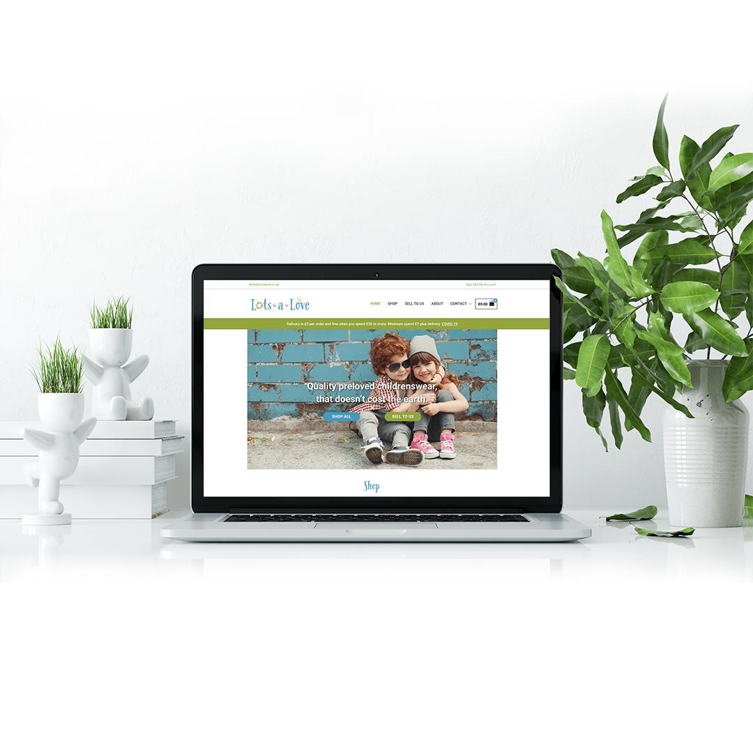Website design for Lotsalove - quality preloved childrenswear