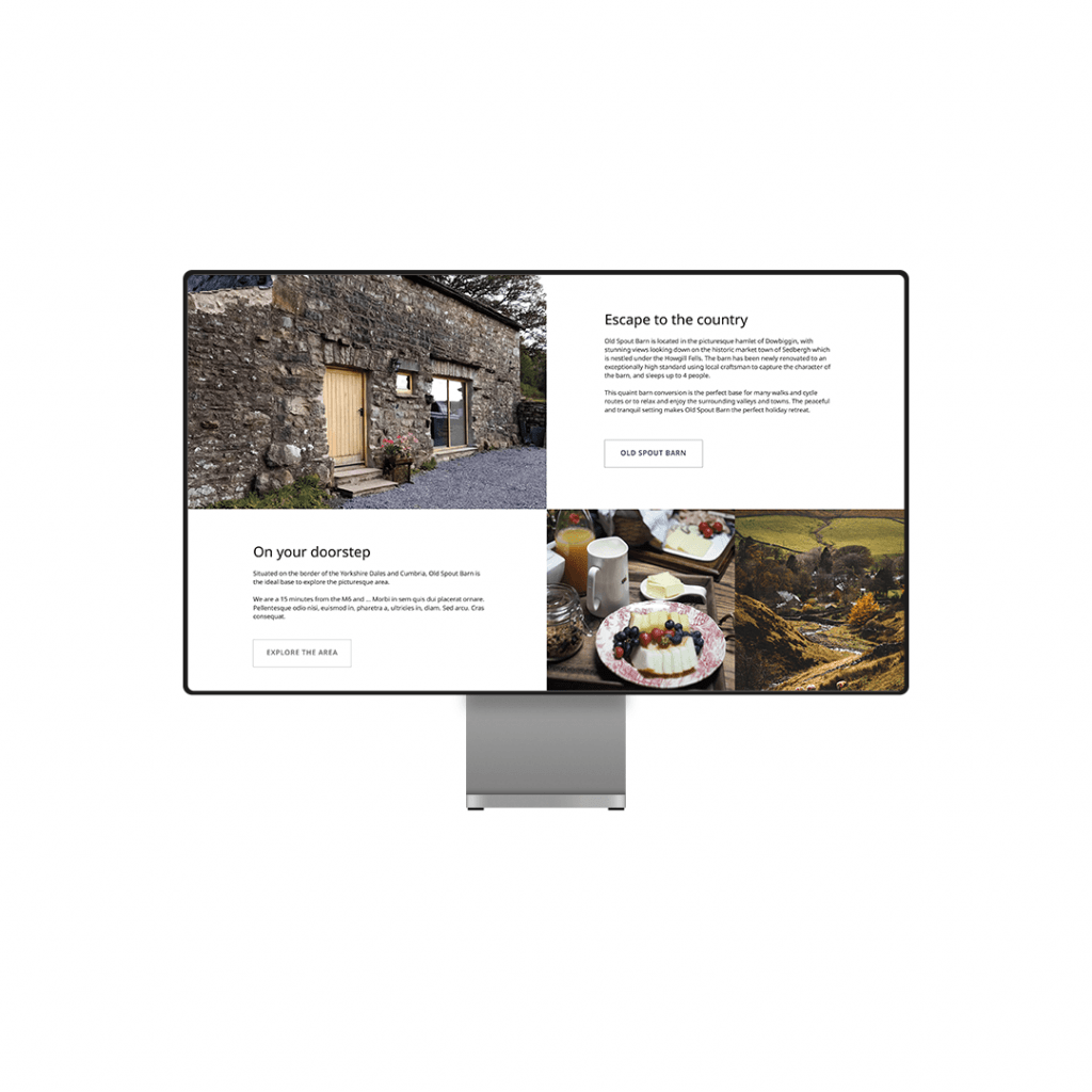 Old Spout Barn website about page Design by Lil Creative Studio