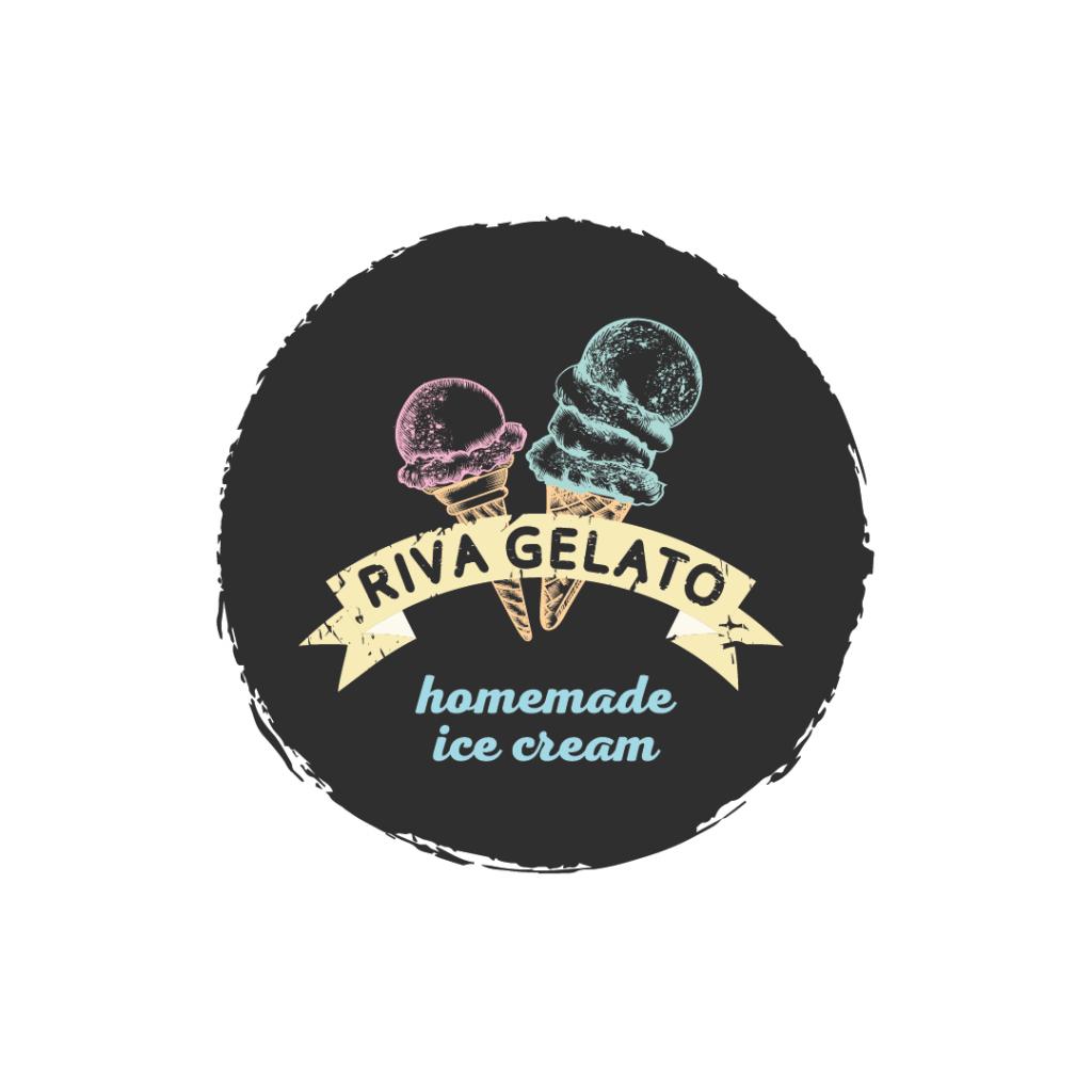 Brand identity for Riva Gelato handmade icecream