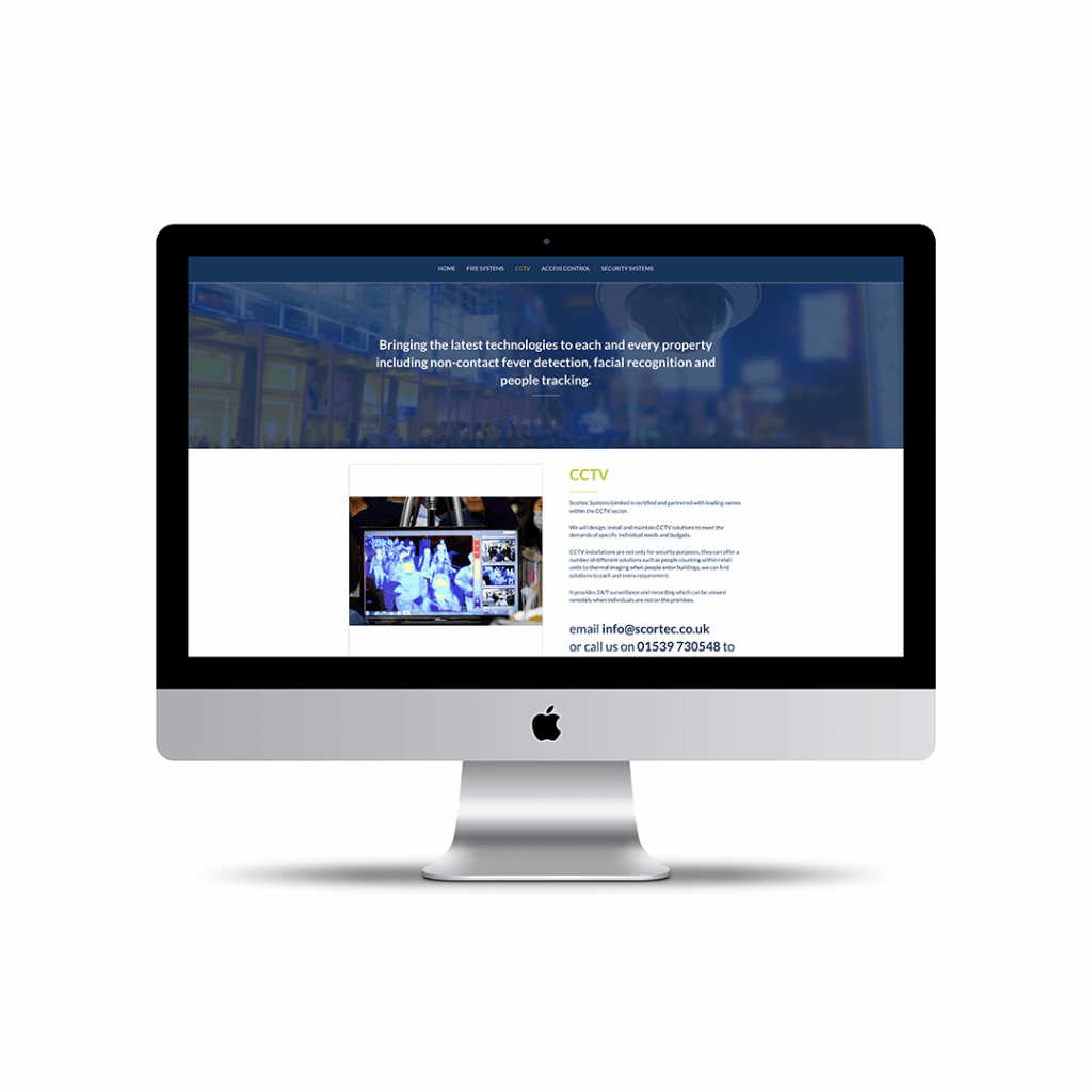 Scortec Systems Ltd website design cctv page