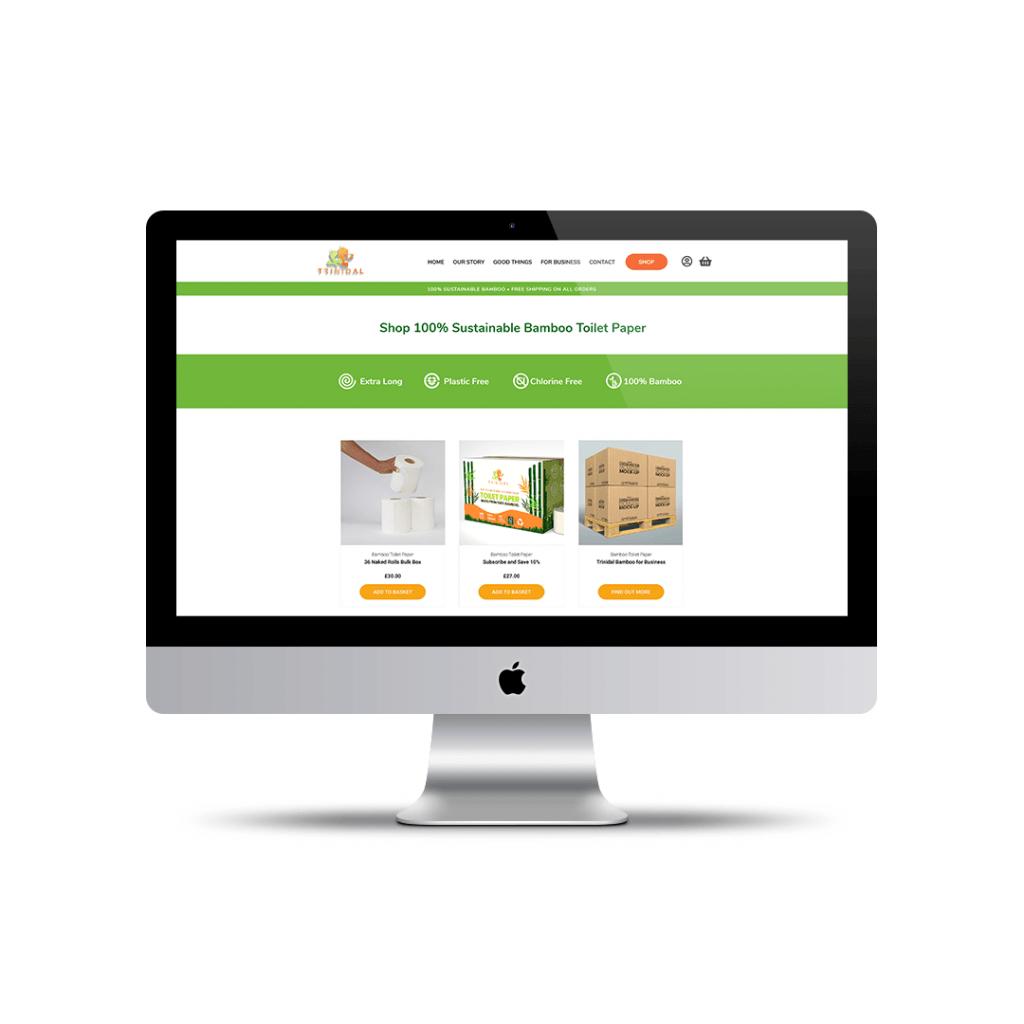 Trinidal Bamboo shop page portfolio image