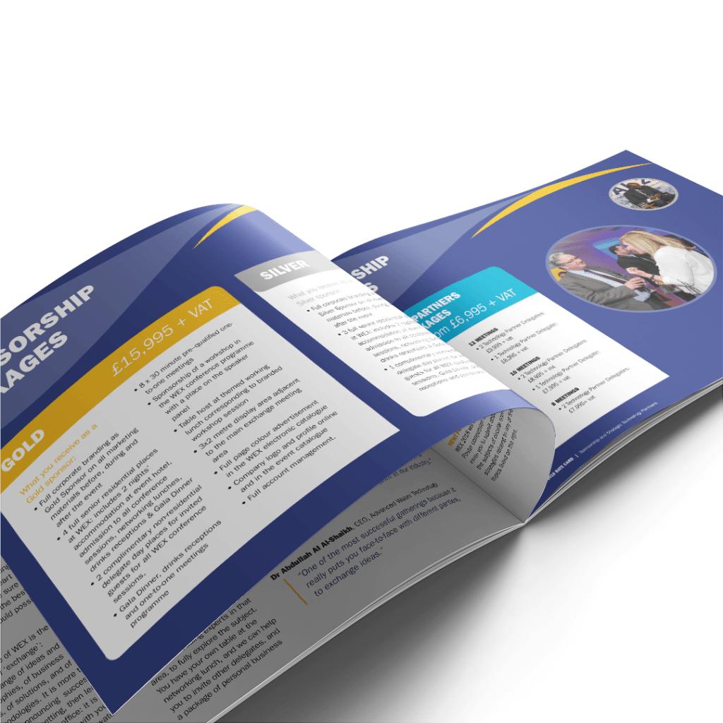 Design for Sponsorship brochure for WEX 2018