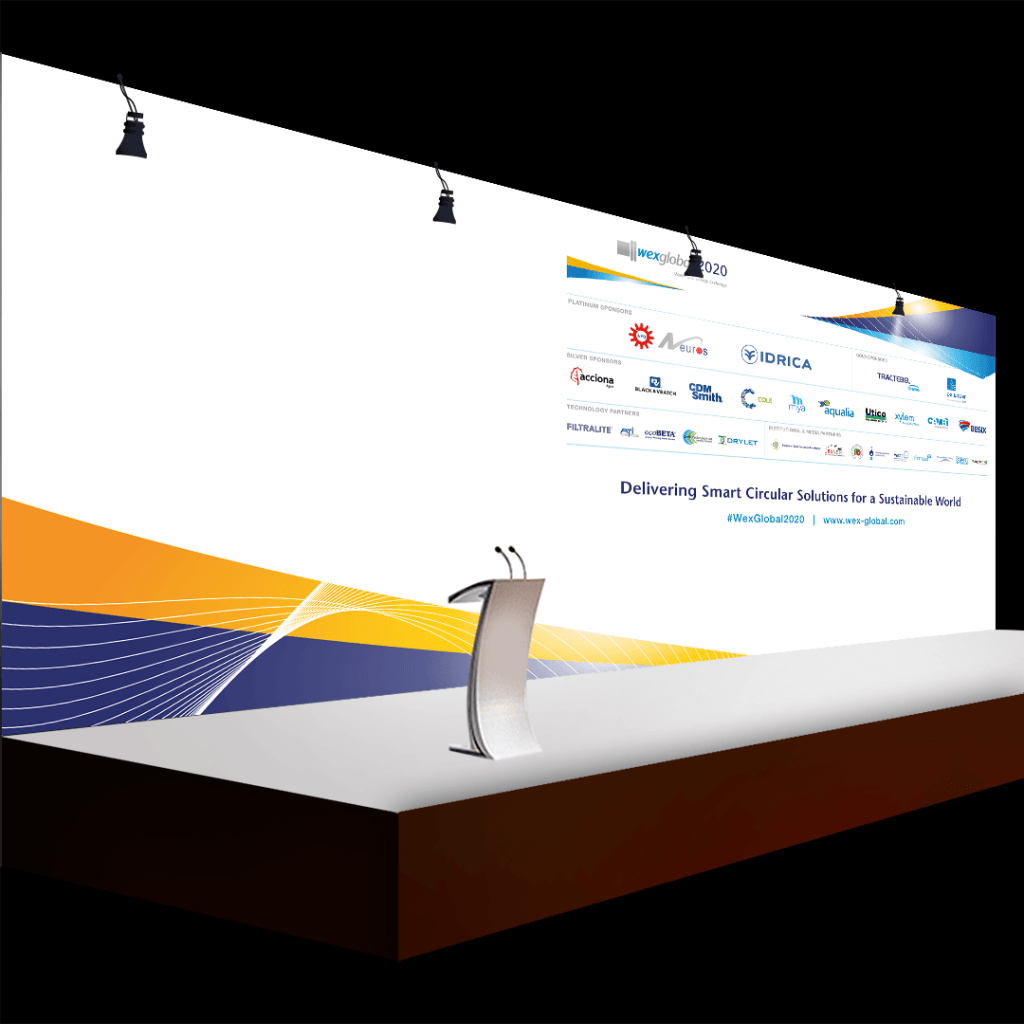 Conference stage display for WEX 2020