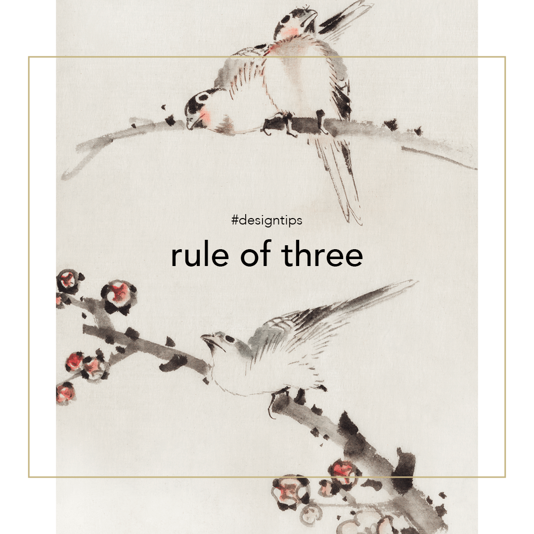 Rule of three graphic for design tips